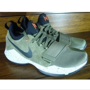 Nike PG 1 Elements Men's Basketball Shoes Olive